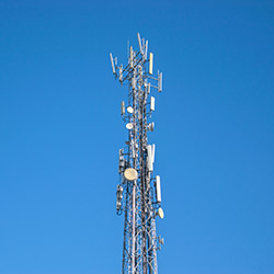 cellular radio communication antenna tower for mobile phone to support coverage area subscribers. voice communication and high speed  data  infrastruckture