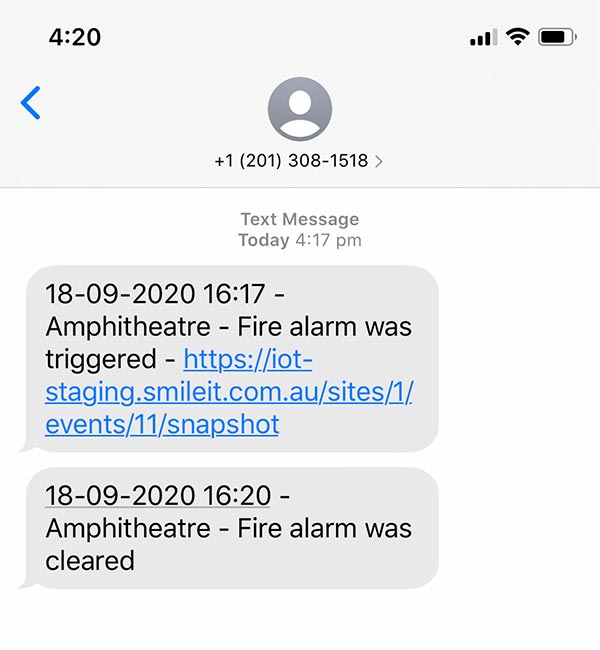 IOT text message