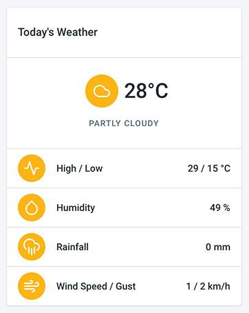 iot weather widget