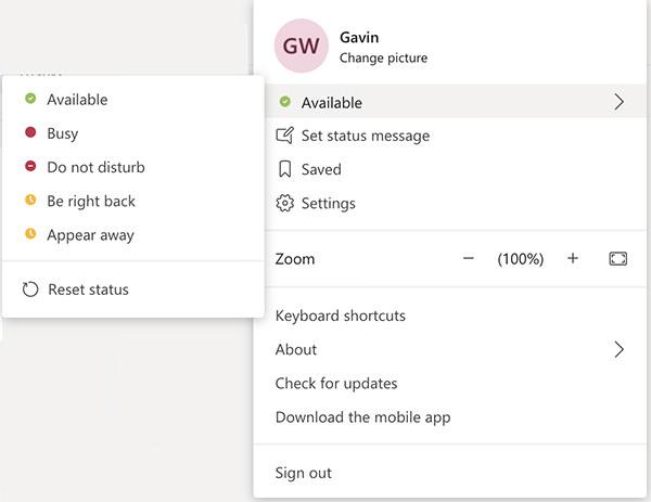 Microsoft Teams Availability Status